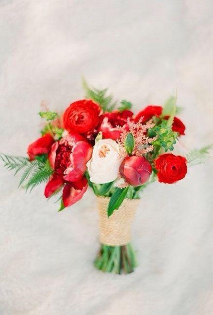 Ramos de novia en tonos rojo❤ 13