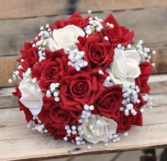 Ramos de novia en tonos rojo❤ 14