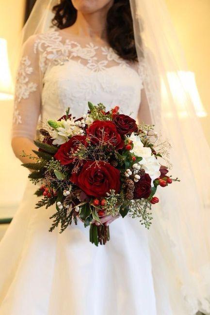 Ramos de novia en tonos rojo❤ 15