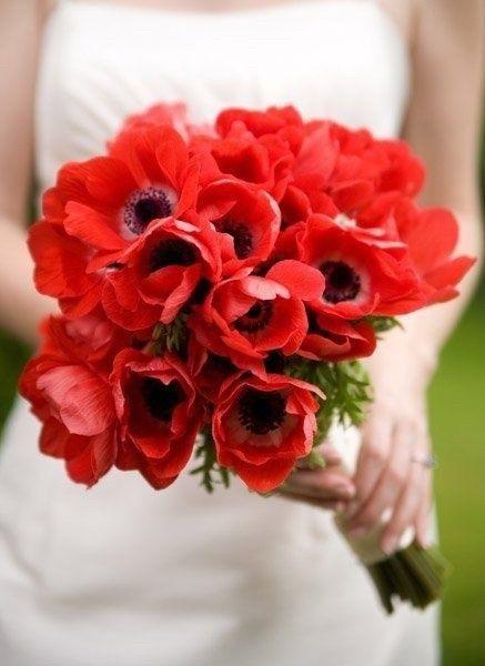 Ramos de novia en tonos rojo❤ 16