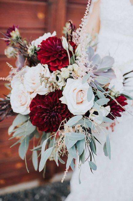 Ramos de novia en tonos rojo❤ 17