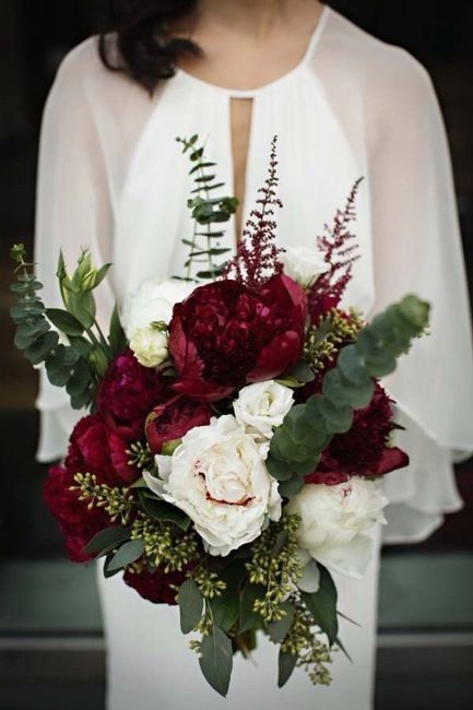 Ramos de novia en tonos rojo❤ 21