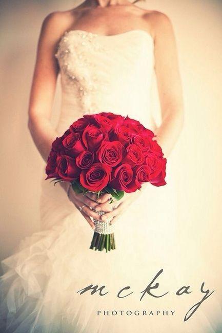 Ramos de novia en tonos rojo❤ 24