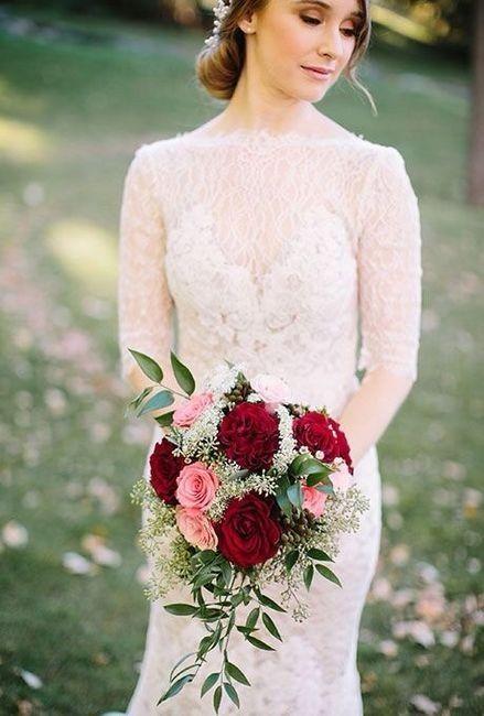 Ramos de novia en tonos rojo❤ 30
