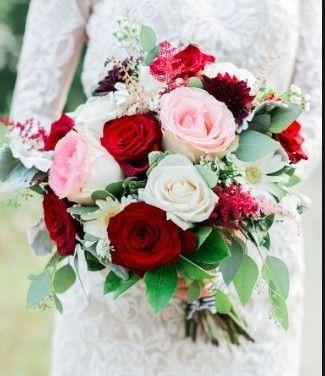Ramos de novia en tonos rojo❤ 32