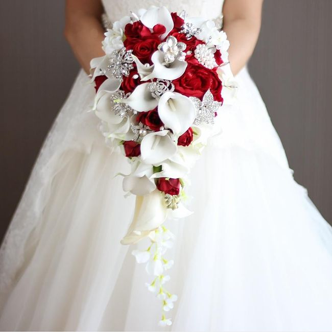 Ramos de novia en tonos rojo❤ 36