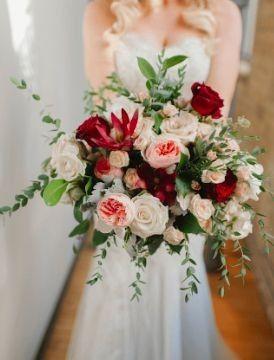 Ramos de novia en tonos rojo❤ 41