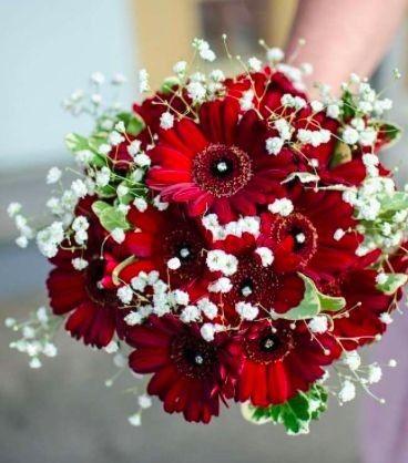 Ramos de novia en tonos rojo❤ 43