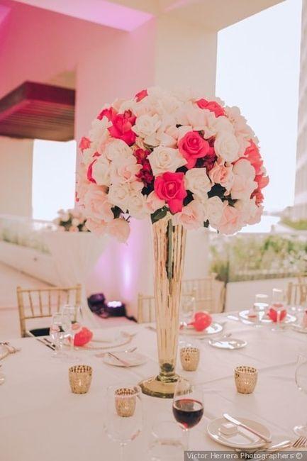 Colores : Centros de mesa en tono Rosa 4
