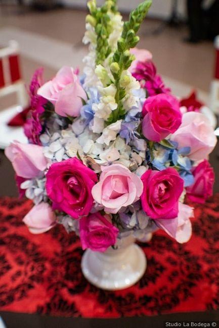 Colores : Centros de mesa en tono Rosa 5