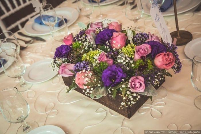 Colores : Centros de mesa en tono Rosa 14