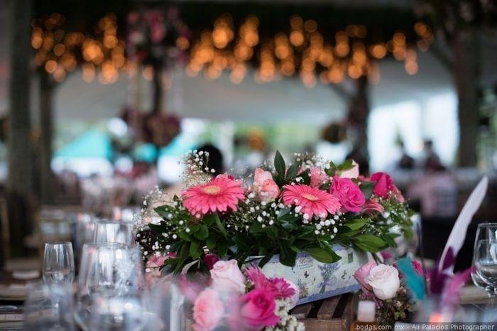 Colores : Centros de mesa en tono Rosa 17