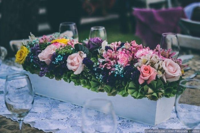 Colores : Centros de mesa en tono Rosa 19