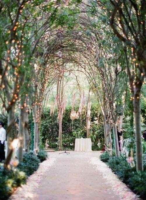 Ideas de decoración de boda en Jardín 12