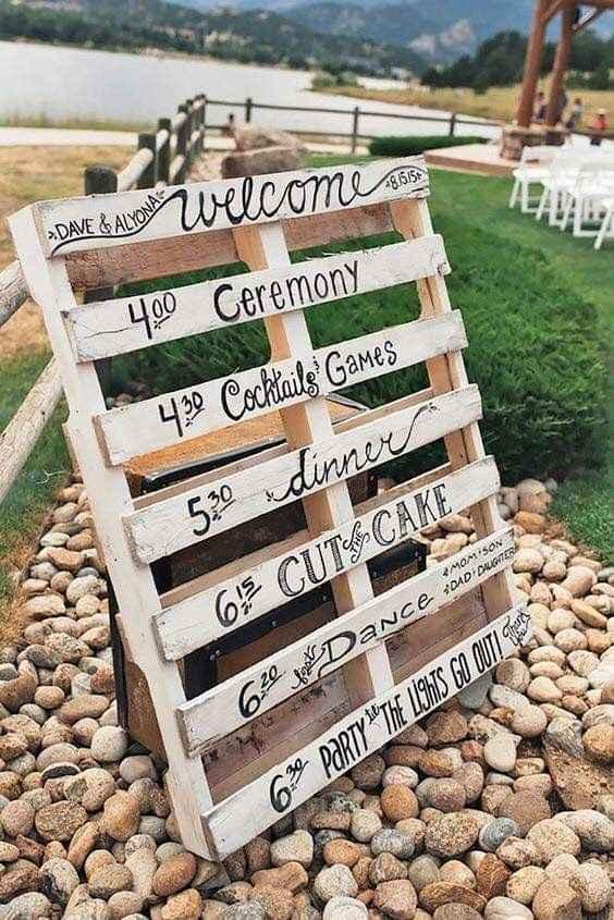 Ideas de decoración de boda en Jardín 14