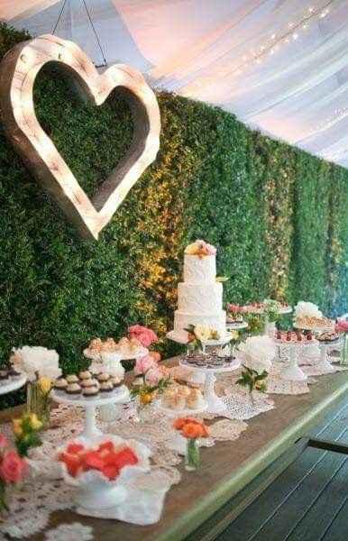 Ideas de decoración de boda en Jardín 18