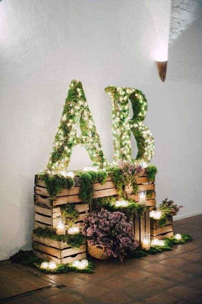 Ideas de decoración de boda en Jardín 21