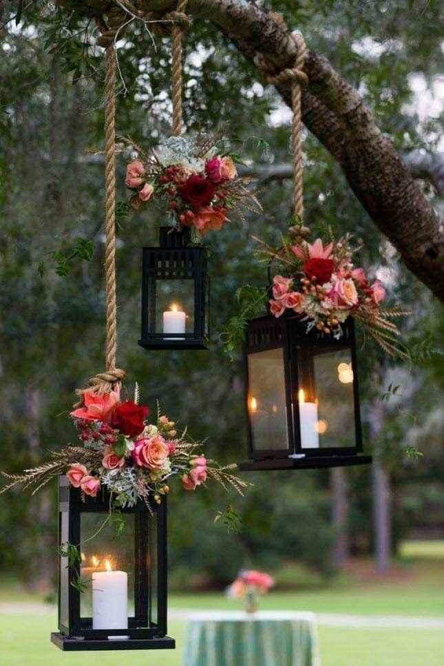 Ideas de decoración de boda en Jardín 32