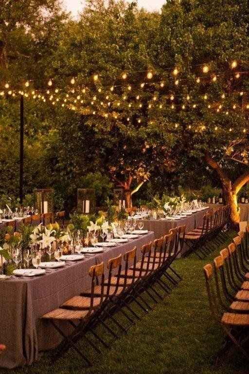 Ideas de decoración de boda en Jardín 43