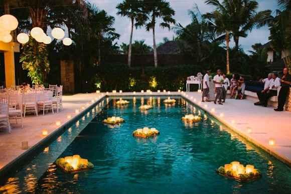 Ideas de decoración de boda en Jardín 45