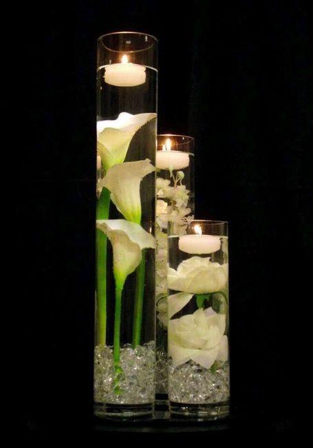 Centros de mesa velas y agua foro manualidades para bodas - Velas de agua ...