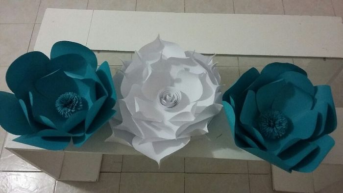 Diy-flores gigantes de papel - 1