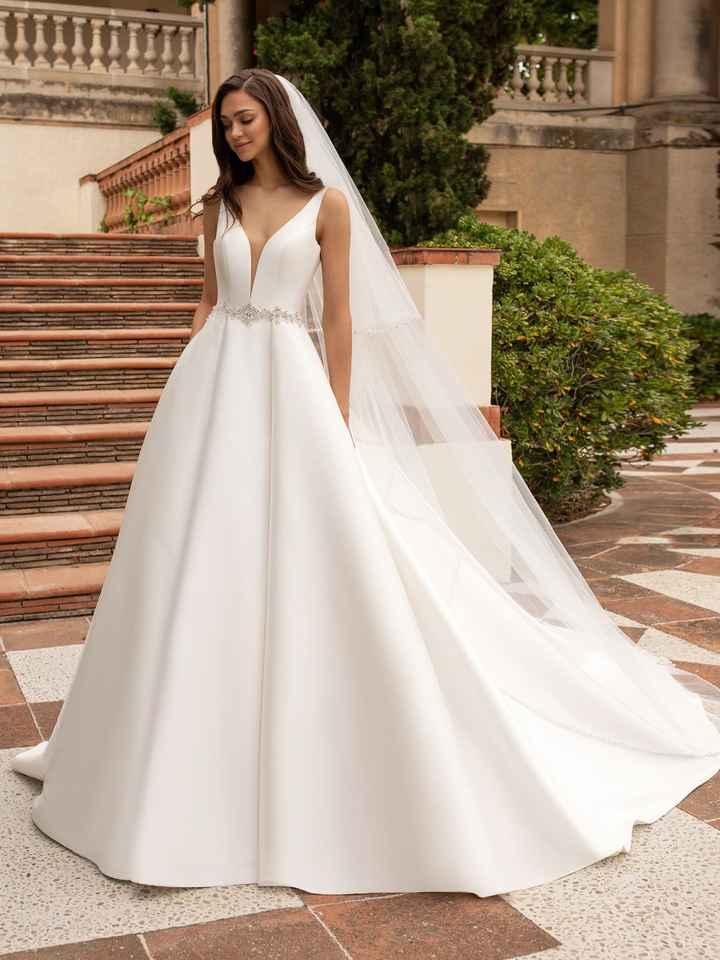 Vestido de novia sin encaje - 1