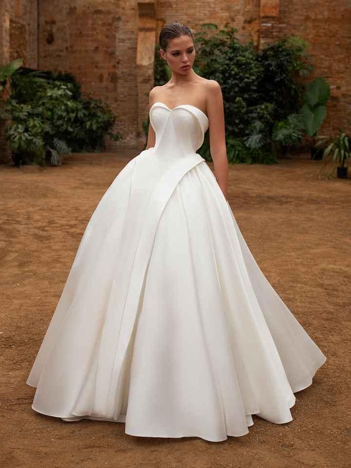 Vestido de novia sin encaje - 2