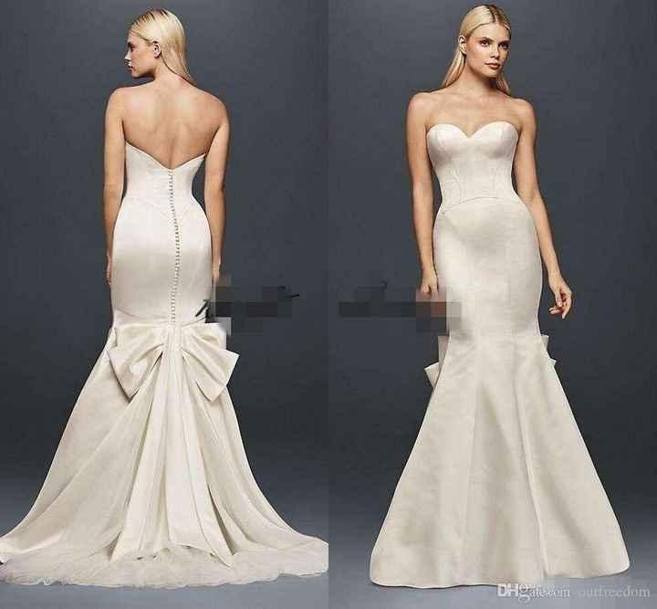 Vestido de novia sin encaje - 3