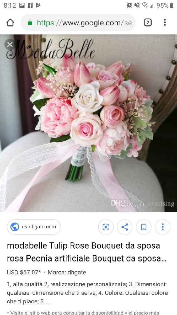 Ramo de novia artificiales - 2