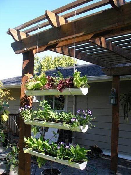 Jardín colgante de PVC