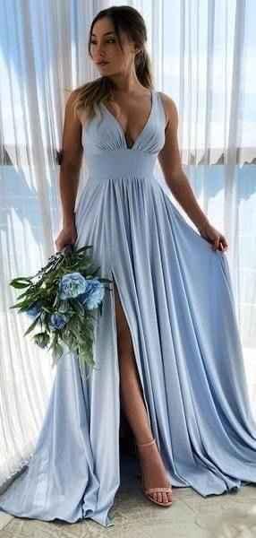 Damas de honor azul cielo - 1
