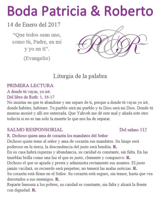 Misa Matrimonio Catolico Lecturas : Misal personalizado foro ceremonia nupcial bodas mx