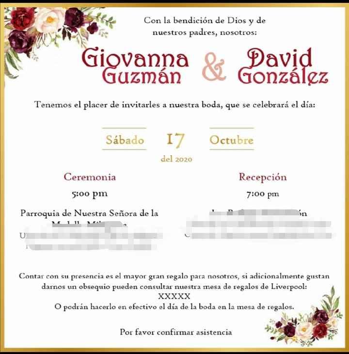 Avances e invitaciones - 1