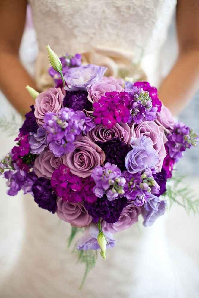 ramos en tonos lilas y morados - 1