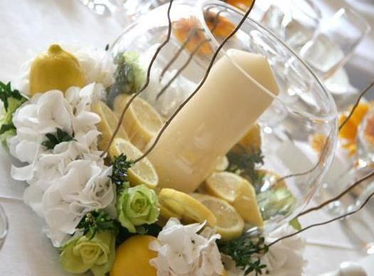 Centros de mesa con peceras foro banquetes for Como hacer adornos con plantas naturales