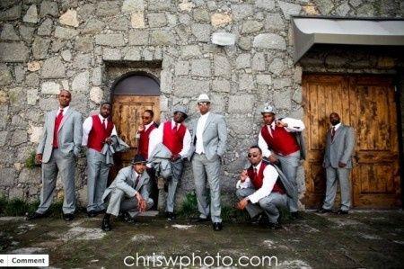Decoración para boda en blanco y rojo 6