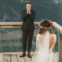 sesion de fotos con el vestido antes de la boda - 1