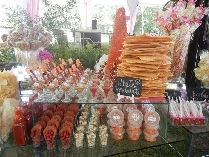 Mesa de postres dulces confiter a y m s foro banquetes for Backdrop para mesa de dulces