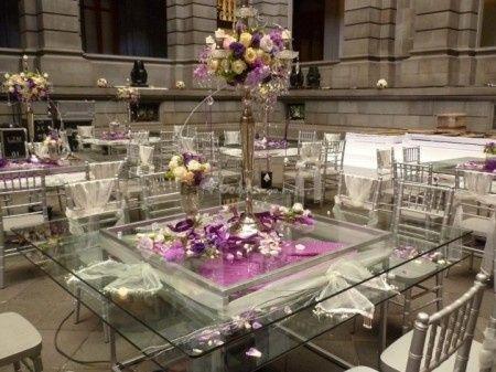 mesas de cristal foro banquetes