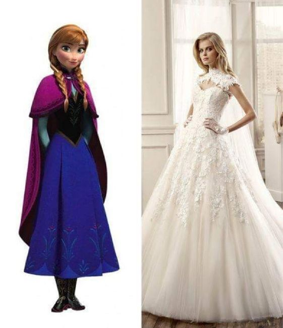 Vestidos de novia princesas de disney