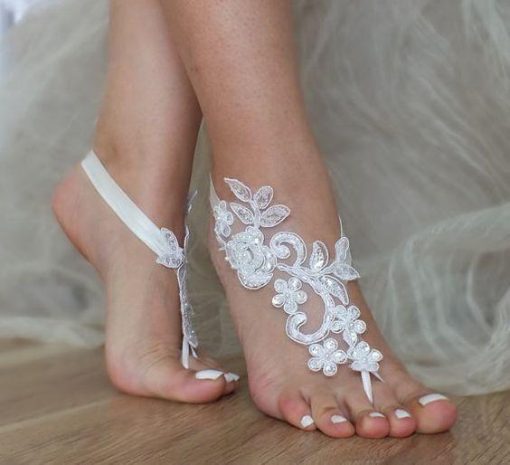 sandalias descalzas para bodas en la playa - foro moda nupcial
