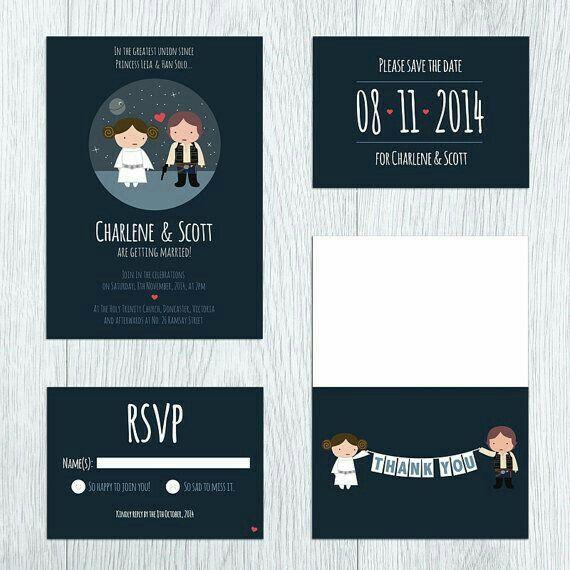 disponible diseño profesional diseño encantador Invitaciones: Boda Star Wars - Foro Manualidades para bodas ...