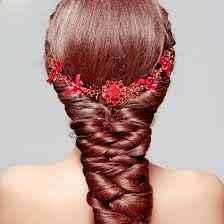 Colores: tocados de novia en rojo - 2