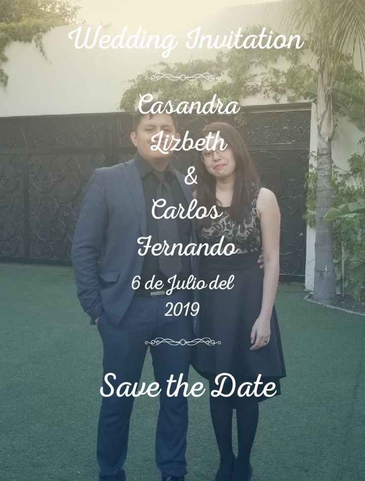 Save the date💕