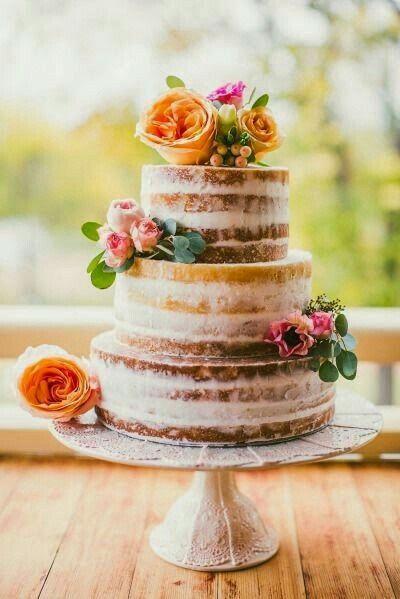 Ideas de pastel estilo naked 12