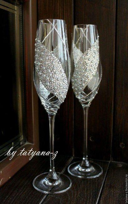 Copas para brindar foro manualidades para bodas - Como decorar copas de cristal ...