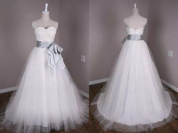 Vestidos de novia blanco con plateado