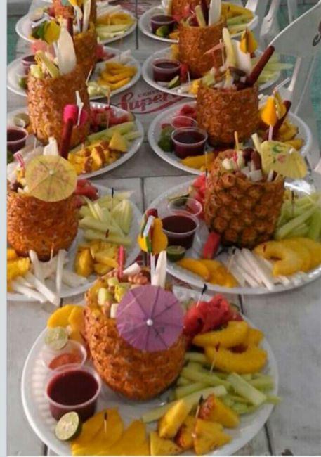 Pi as foro banquetes - Adornos de frutas para mesas ...