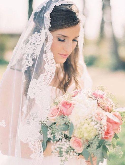 Peinados para mantillas de novia